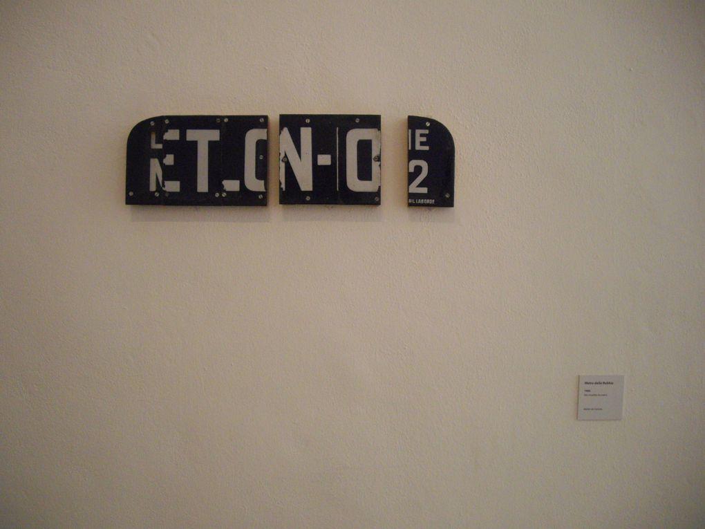 """Photos de la sortie du 12 décembre 2009 au musée Fabre, Montpellier, avec la visite de l'exposition """"Buraglio : en planeur"""" et la table ronde autour de l'artiste."""
