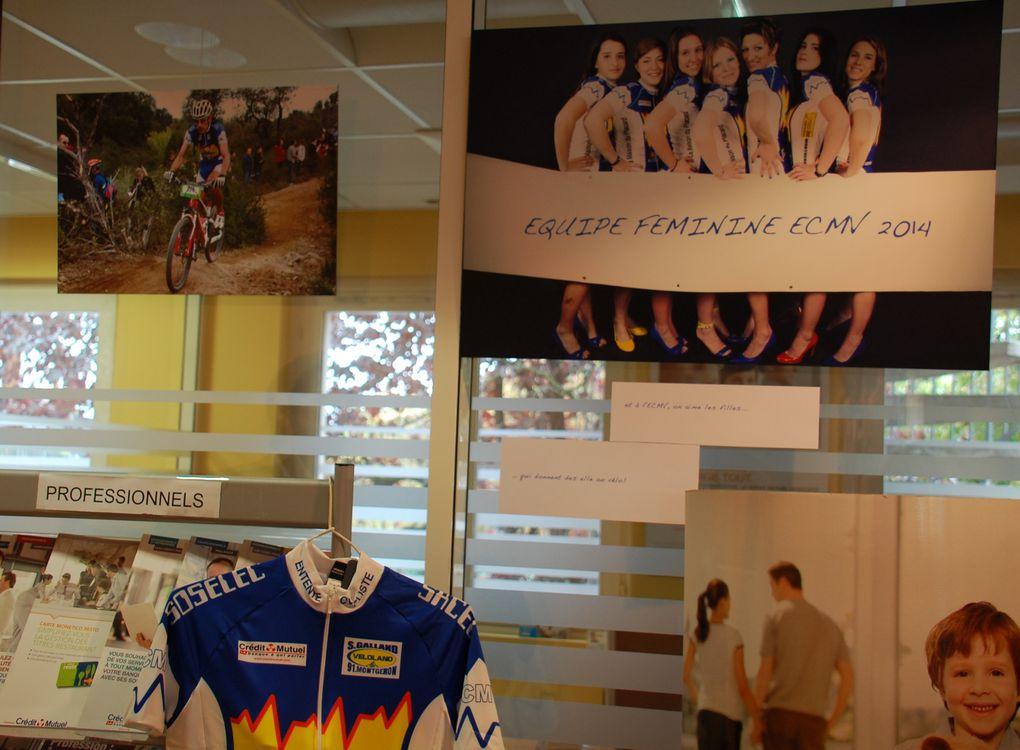 A l'initiative du Directeur du Crédit Mutuel de Montgeron, notre nouveau Sponsor 2014, des photos sur toutes les activités du club sont exposées actuellement et pendant tout le mois de septembre, à l'agence du Crédit Mutuel, avenue de la Républ