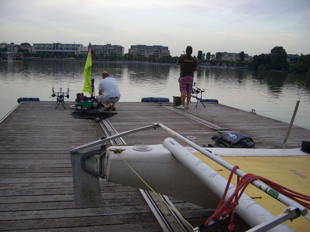 Photos diverses de pêche de nuit 2014 sur l'le aux cygnes  lac d'Enghien