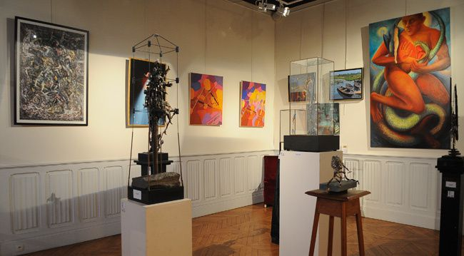 9e Salon d'Artistes Parisiens Alsaciens Européens organisé par la présidente du Salon Yvonne Roland au château de Villiers à Draveil du 12 octobre au 22 octobre 2012.