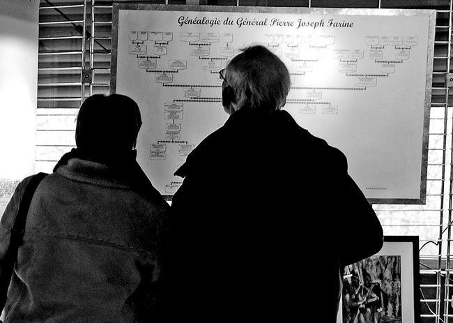 La véritable histoire militaire du Général Pierre Joseph Farine. 1814-1815 : Les Bleus à la croisée des chemins.Du 21 au 26 février à Santeny (Val de Marne) Avec les Généalogistes de Santeny : Danièle ROUE et Thierry CENA. Peintures d'Hé