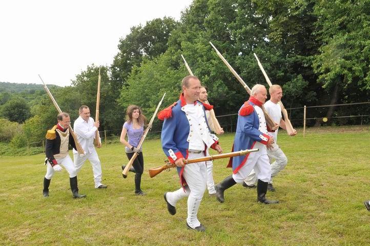 Séance d'insruction des Grognards de la Marne pour la reconstitution historique de la bataille de Saint-Jean-les-deux-jumeaux, qui aura lieu en septembre 2013.