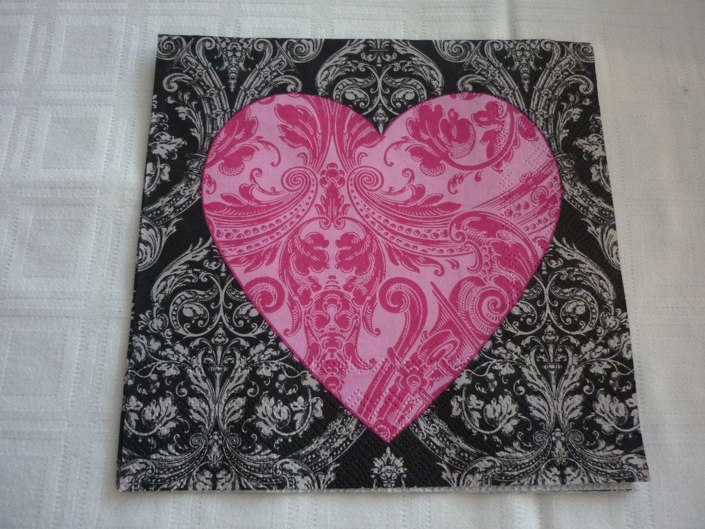 Album - Serviette-Theme Anges et Coeurs