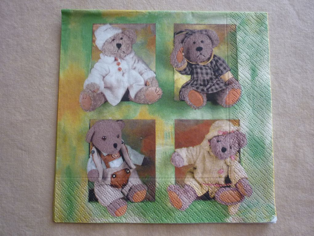 Album - Serviette Theme Enfants
