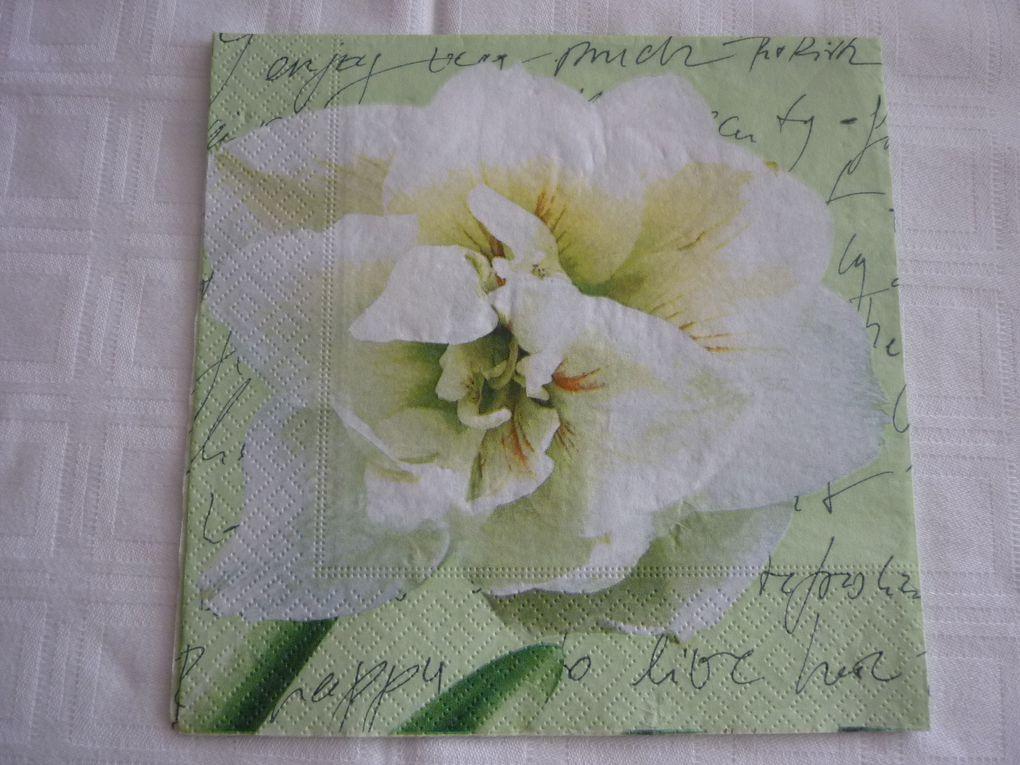 Album - Serviette Theme Fleurs