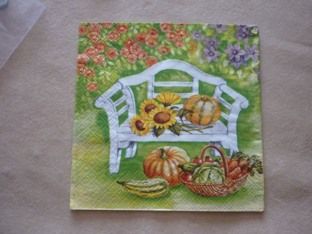 Album - Serviette Theme Jardin