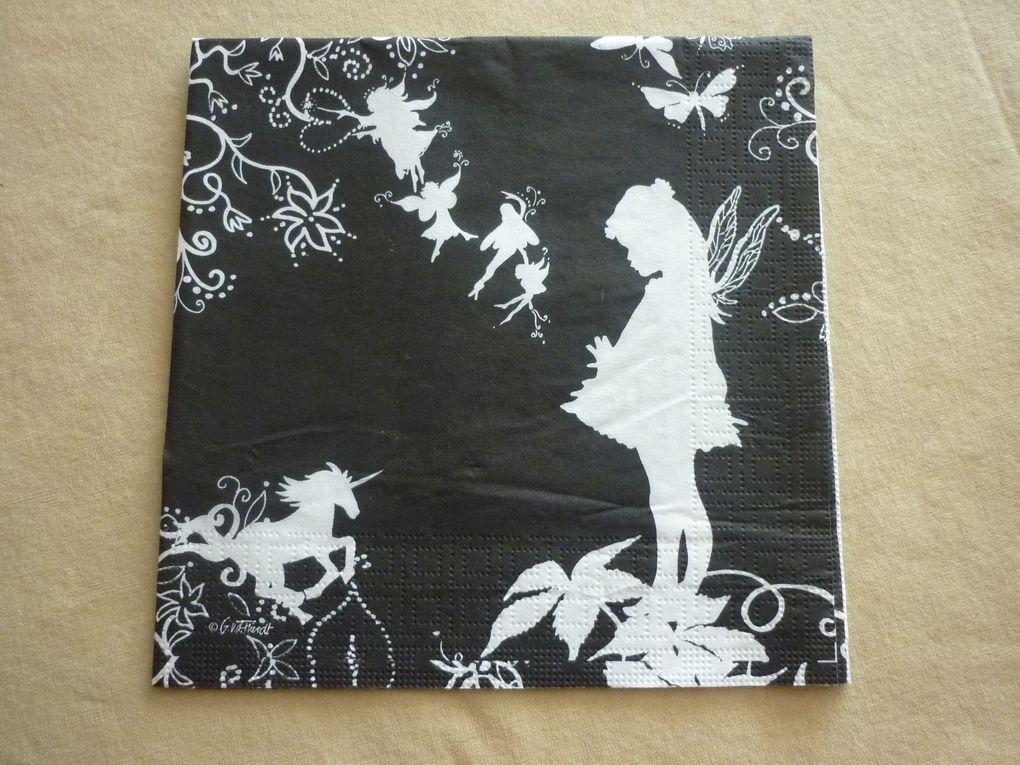 Album - Serviettes Theme NOIR-et-BLANC
