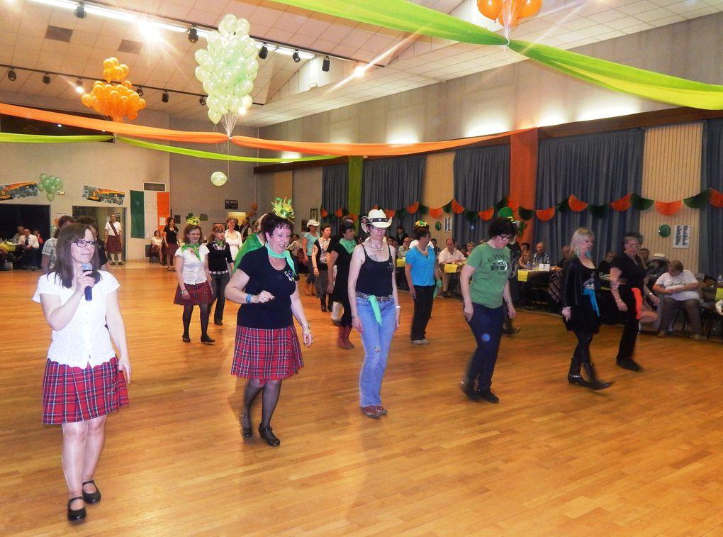Très belle soirée de la St Patrick chez nos amis des CCD 45 de Château-Renard, des danses pour tous, Irlandaise et Country