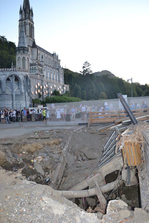 arrivée à Lourdes
