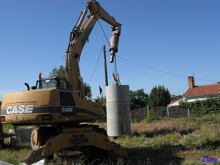 Construction d'un puits de 7m de fond