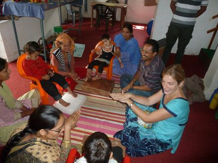 pictures illustrating Sam's blogs about OT services in the Handimachal Kullu Therapy Unit