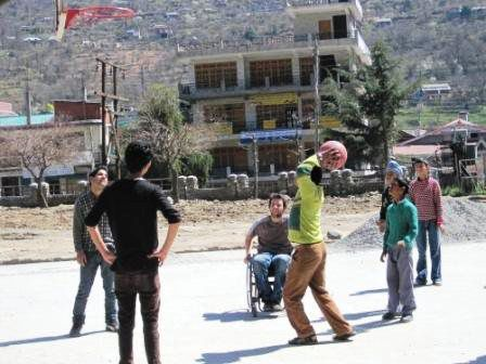 Catriona's farewell party / Sara our new OT / Guillaume & Thomas / Kids in the Handimachal Unit/ playing basket ball with disabled children in Kullu / end of our tour in Rewalsar