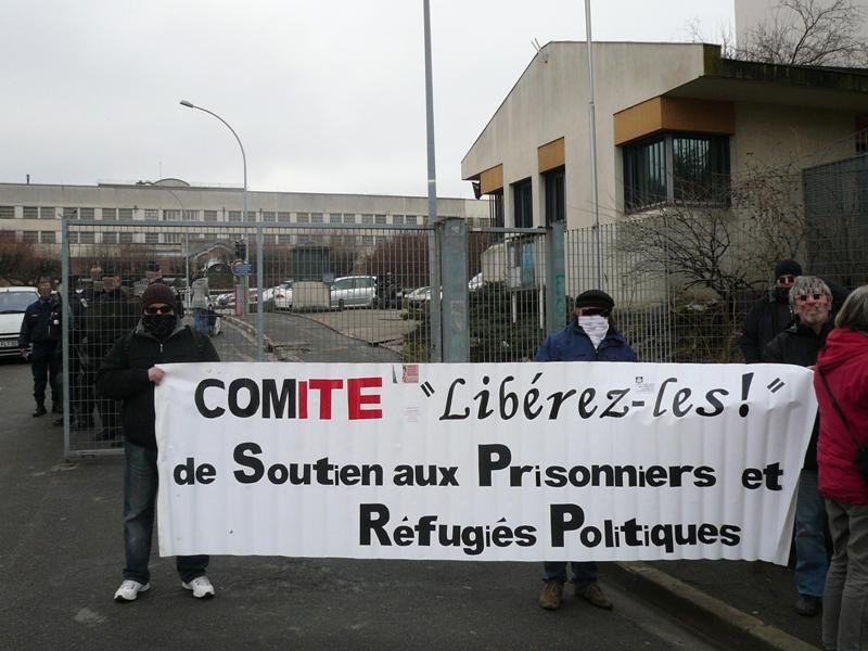 Rassemblements 2010 pour la libération des militants d'ACtion directe Georges Cipriani et Jean-Marc Rouillan