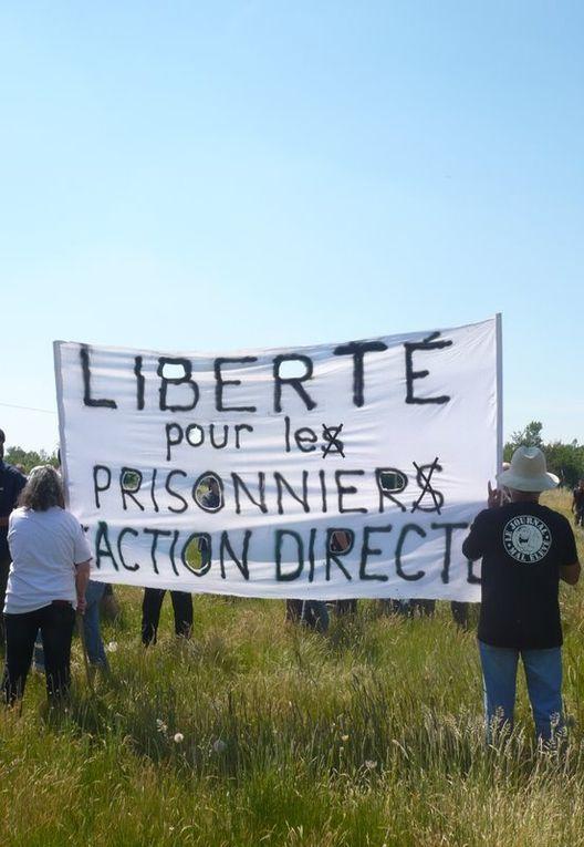 Rassemblement du 5 juin 2010 à Muret, prison où est enfermé Jean-Marc Rouillan, pour la libération des prisonneirs d'Action directe.