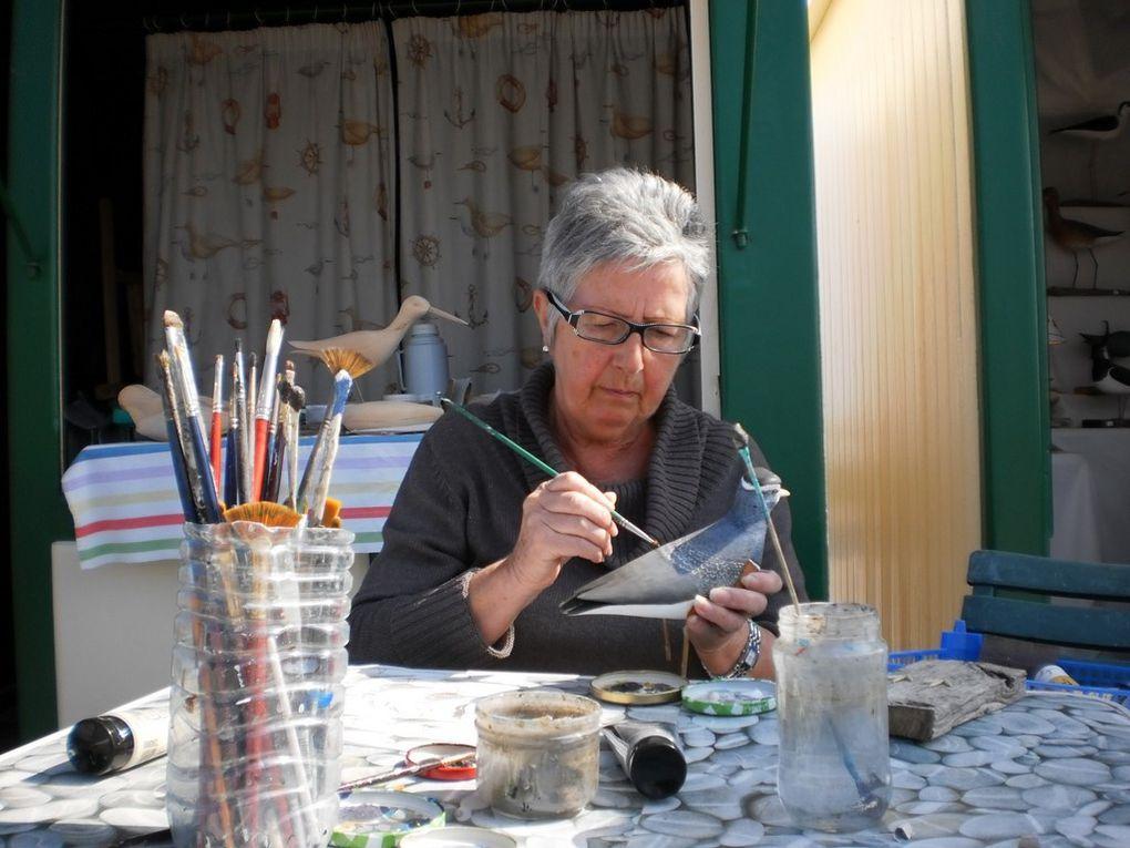 A la pointe du Hourdel du 16 avril au 25 avril, pendant le Festival de l'Oiseau, Michel et Michèle MASSON exposent leurs œuvres, Les tailleurs de Blettes in Bo, vous attendent, démonstration et vente sur place d'oiseaux de bois sculptés et peint