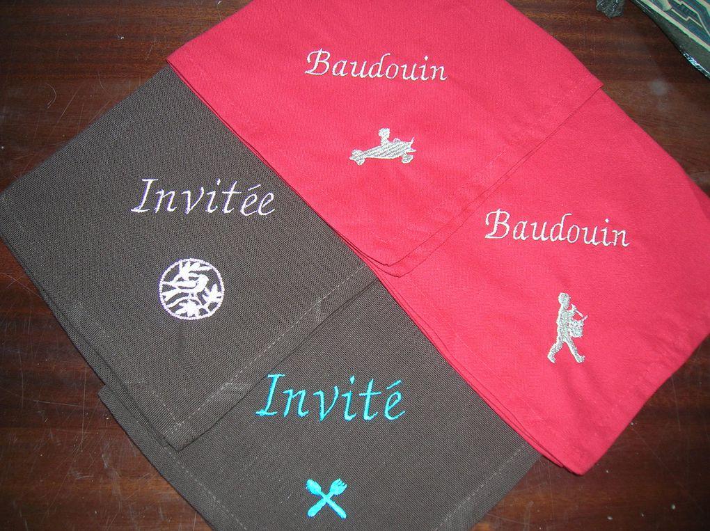 Initiales, Monogrammes, Prénoms, Broderies ou Appliqués, à vous de choisir !