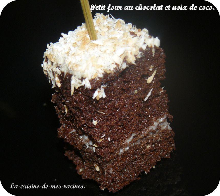 Album - petit-four-au-chocolat-et-noix-de-coco.