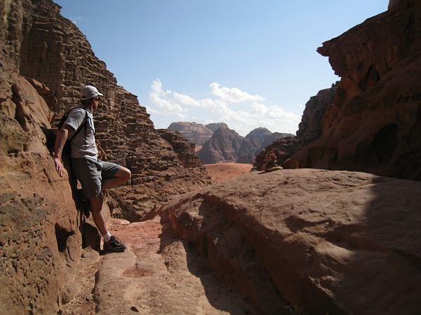 Voyage en 2008 de Christophe Baloyan, photos, d'escalade dans le wadi-Rum.