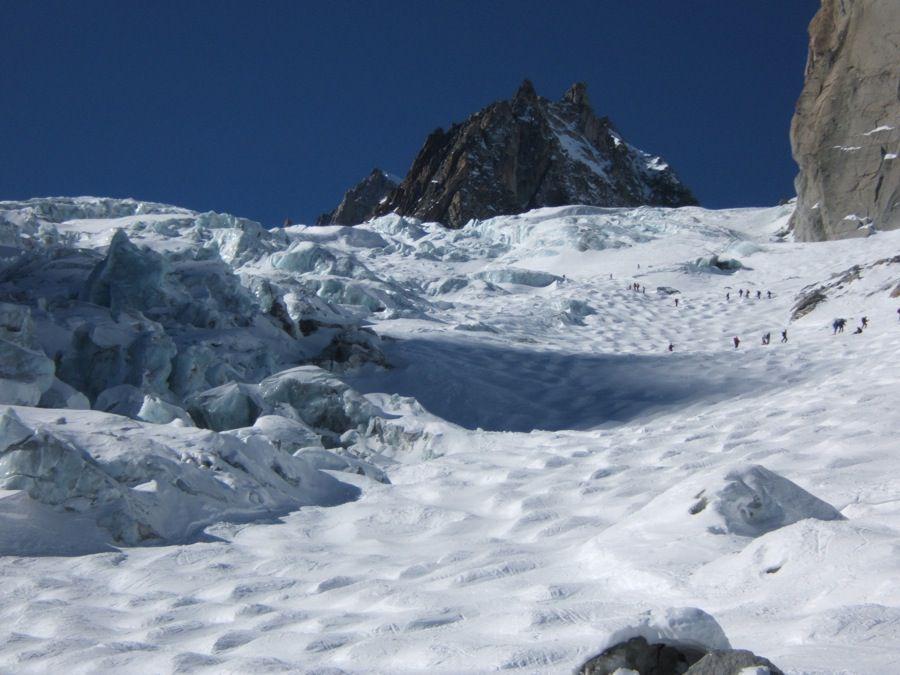 La Vallée Blanche, une grande classique à Chamonix. Une belle série de photos vous présentant la descente à ski.