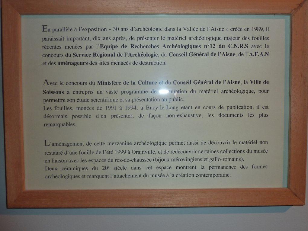 Photos prises au musée de Soissons et anciennes photos de journaux