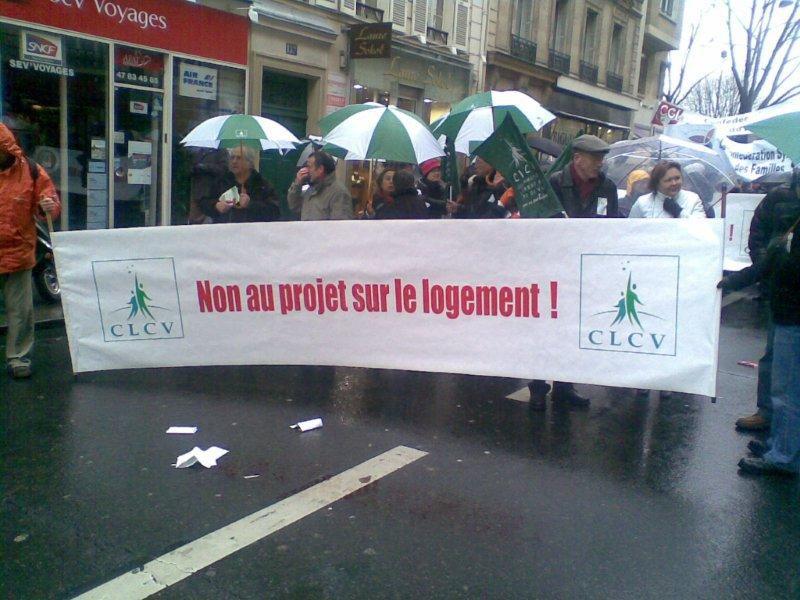 Manifestion contre la loi Boutin