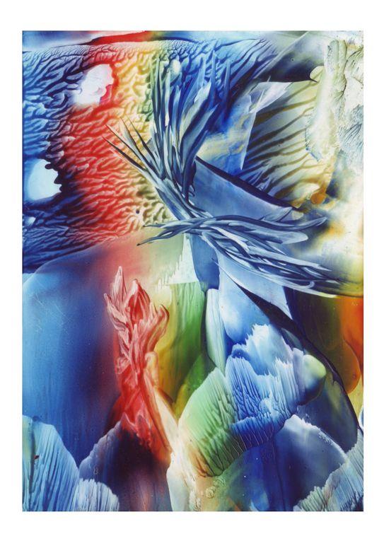 Peintures réalisées avec de la cire chaude (colorée)