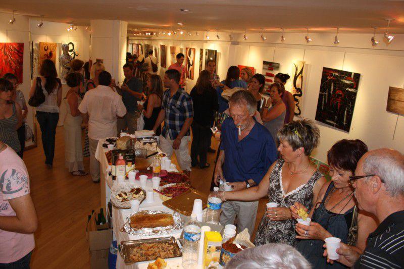 Les expos de l'atelier : journée des peintres 2008 à Chamagne, art postal, galerie du Bailly, etc...
