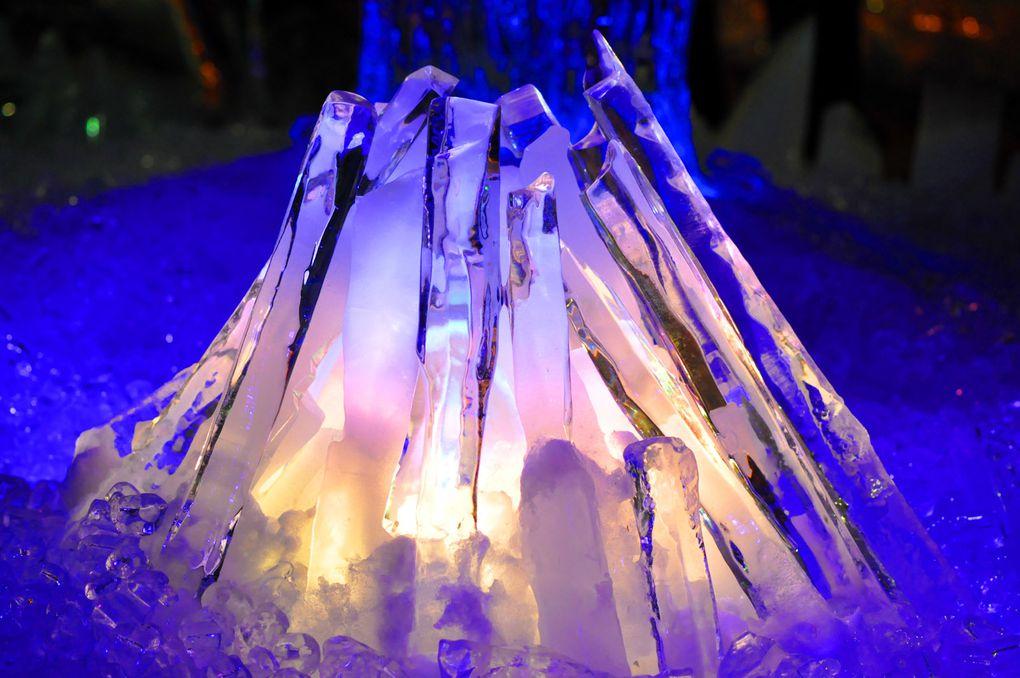 Eisskulpturenaustellung in Rostock