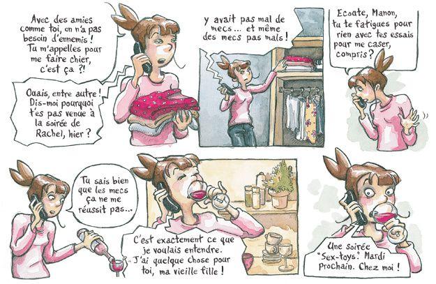 """Petite BD coquine de la collection """"Poisson dissolu"""" de L'atelier du poisson soluble, 40 pages en couleurs, 10€, paru en juin 2010."""