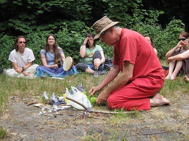 Festival 2011, cérémonie d'ouverture : création d'un bâton de parole