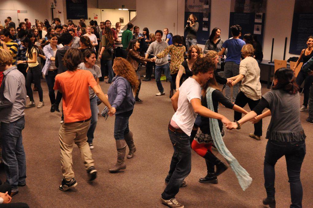 Animation folk organisée à la demande de l'ILV pour les étudiants ERASMUS