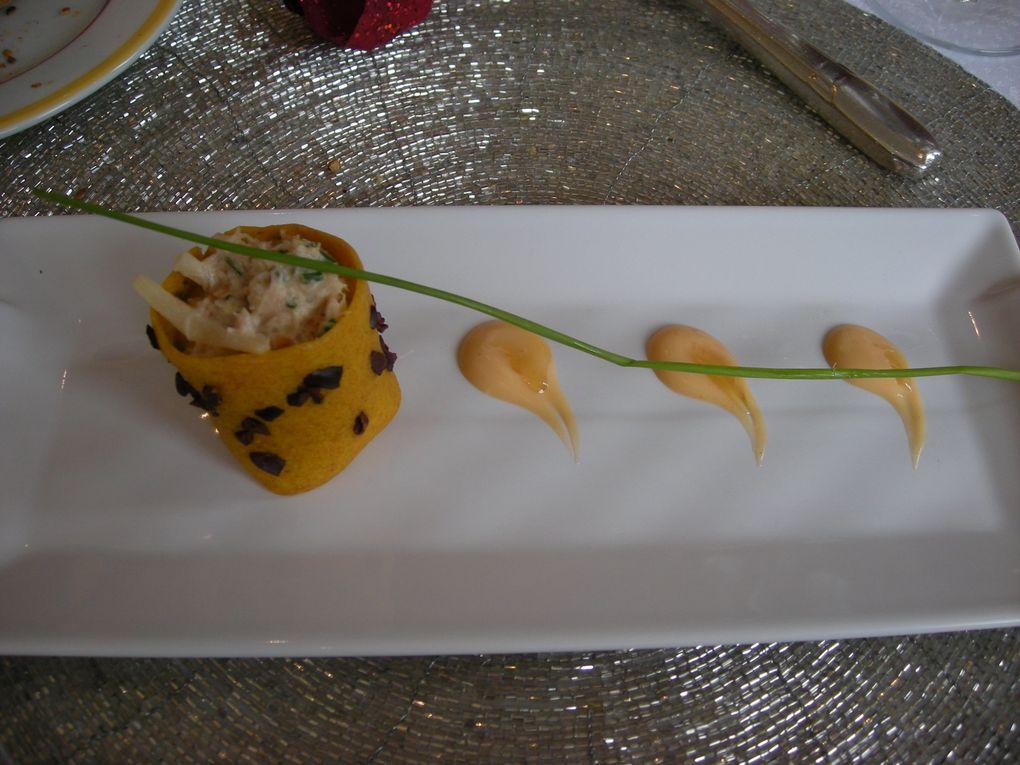 Menu de la Saint Valentin 2010 a notre restaurant favori.