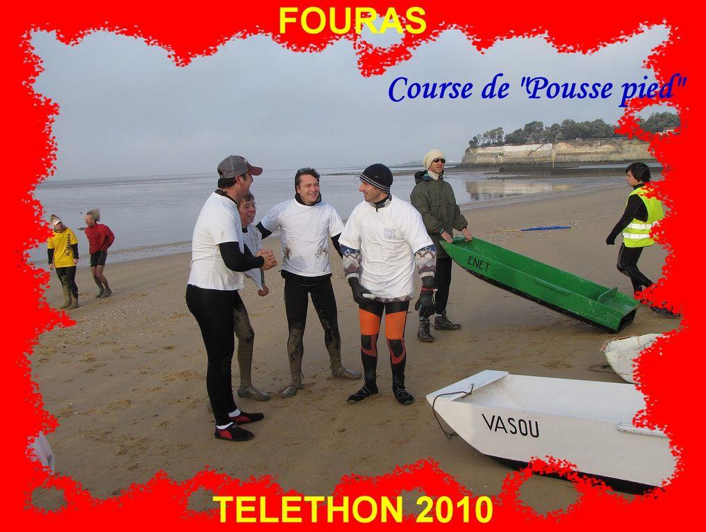 Fouras, ville ambassadrice du Téléthon 2010.Samedi 4 décembre, le village Téléthon : place Carnot, la plage.
