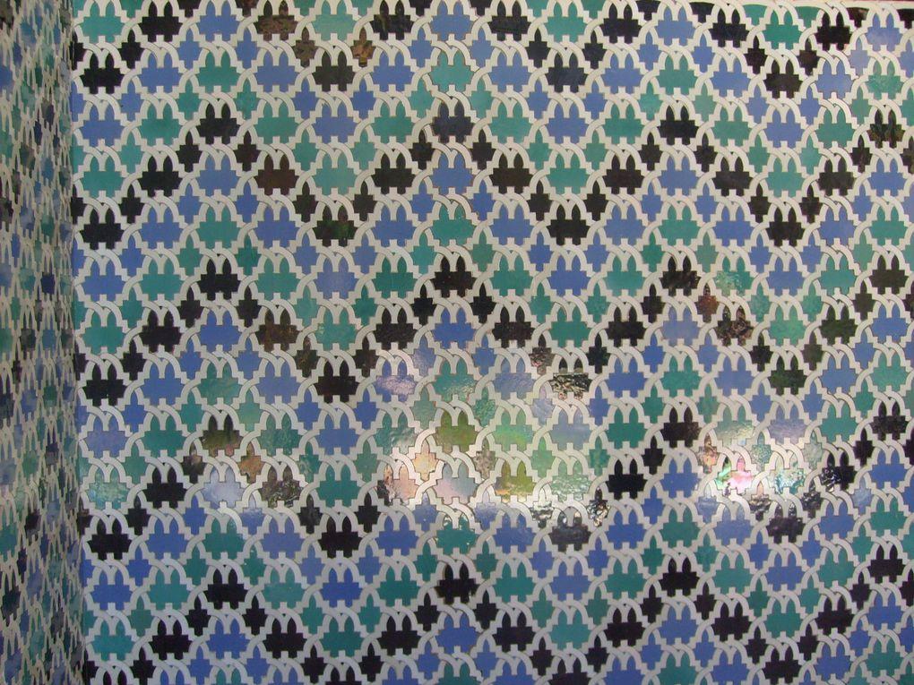 Motifs de pavages de l' Alcázar de Séville