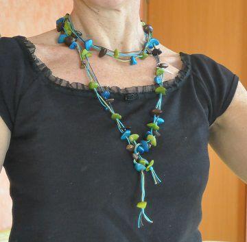 BIJOUX collier en TAGUA - ivoir végétal - bracelets en graines végétales