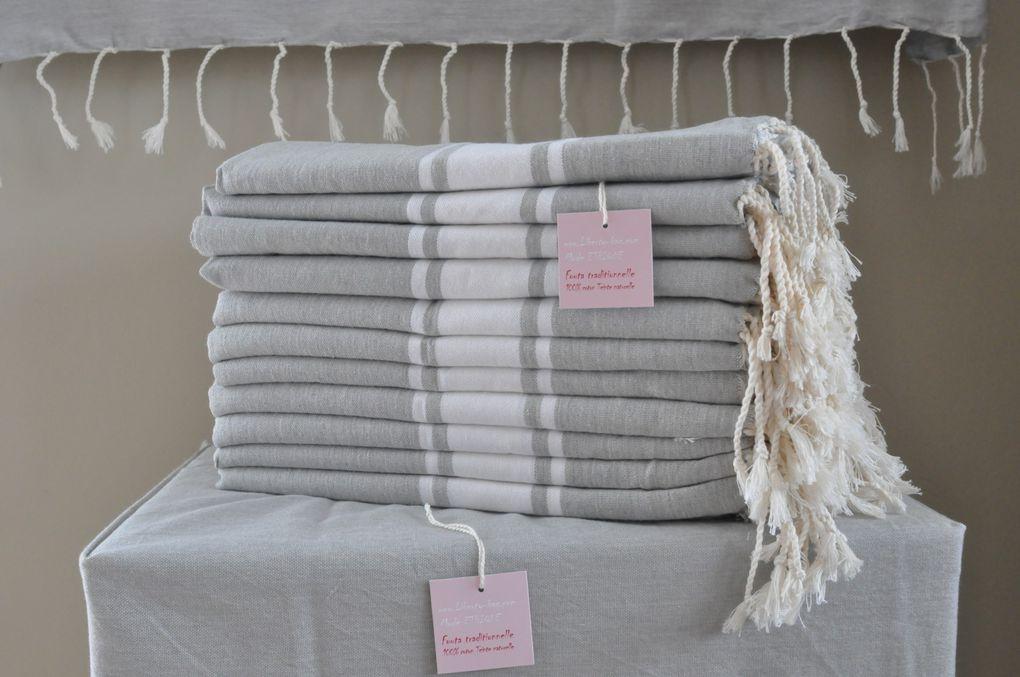 des foutas classiques en 2m*1m comme serviette de plage aux foutas maxi en 2*3m pour déco intérieur - nappe, dessus de lit, canapé ...