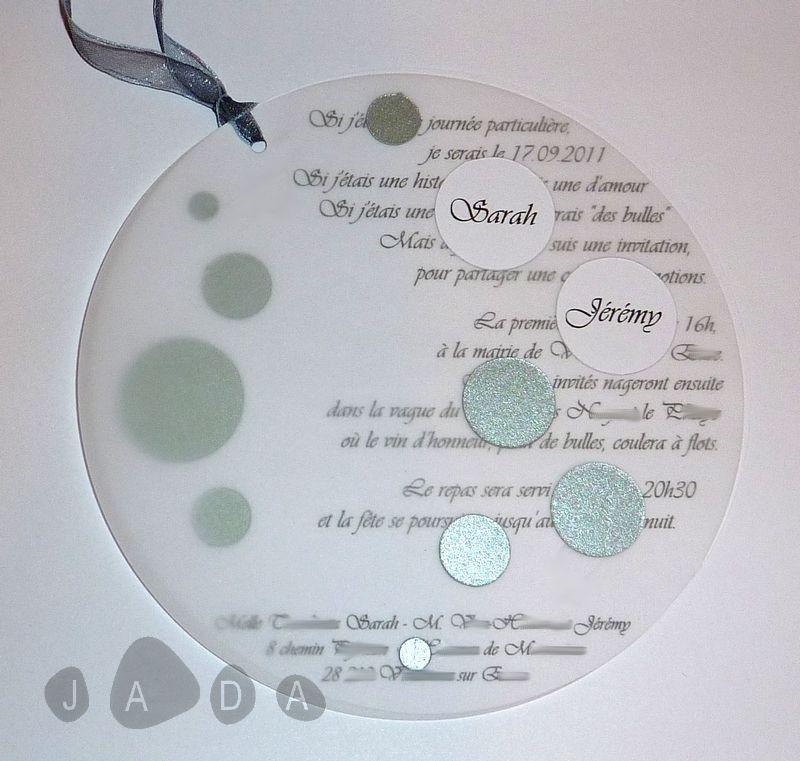 Des faire-parts tout en rondeurs pour un thème autour des bulles...