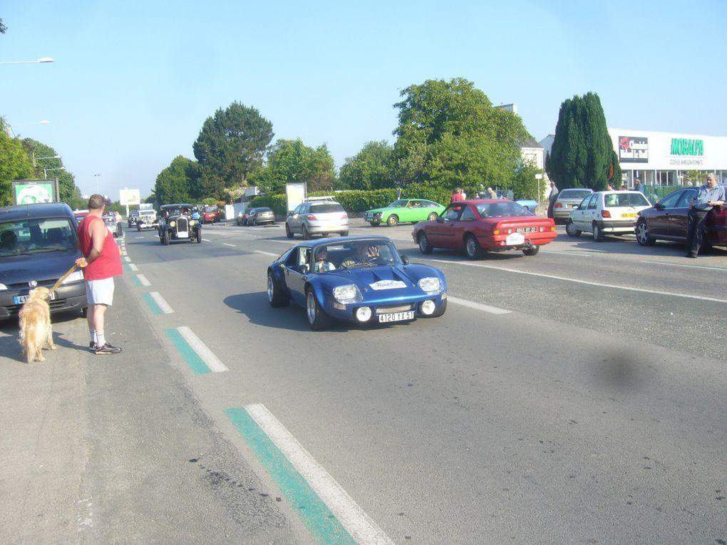 troisième phase du tour de bretagne des voitures anciennes