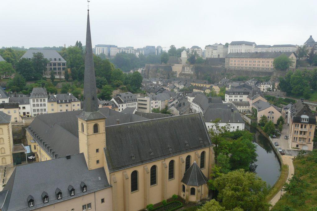 Visite de la ville de Luxembourg après 3 jours de vélo 5 juin 2011