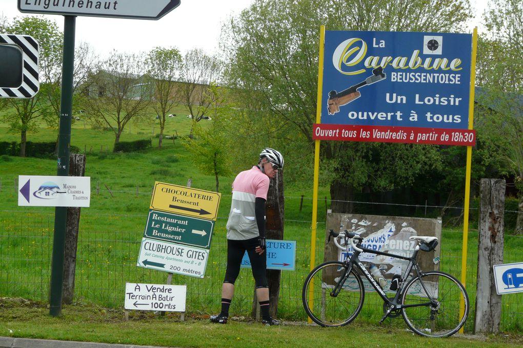 Nanterre Londres 2ème jour 18 mai 2012: 95 km de Groffliers à Calais et 25 km de Douvres à Folkestone