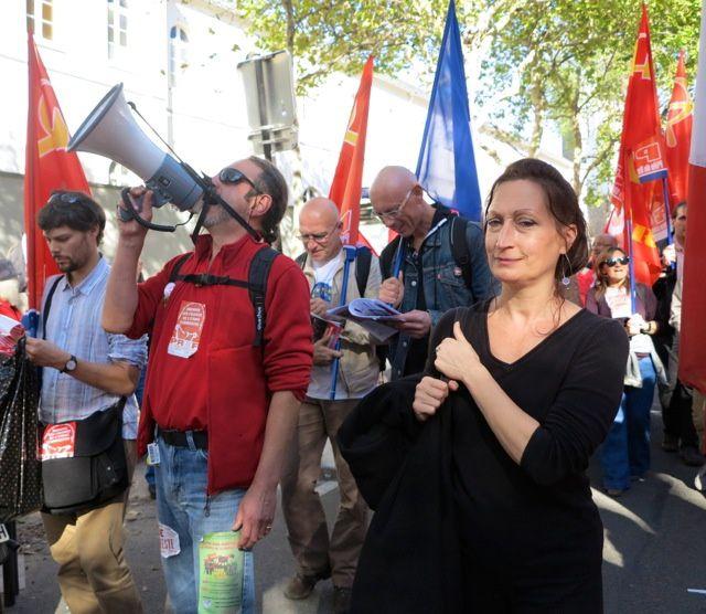 Le PRCF manifeste à Paris contre le TSCG, pour la sortie de l'UE et de l'euro, le 3à septembre 2012