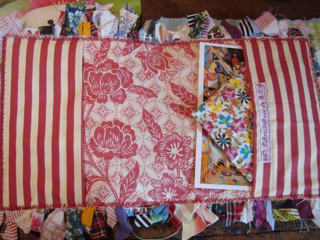 Echanges de mail-art et de créations textiles avec Anne Gailhbaud