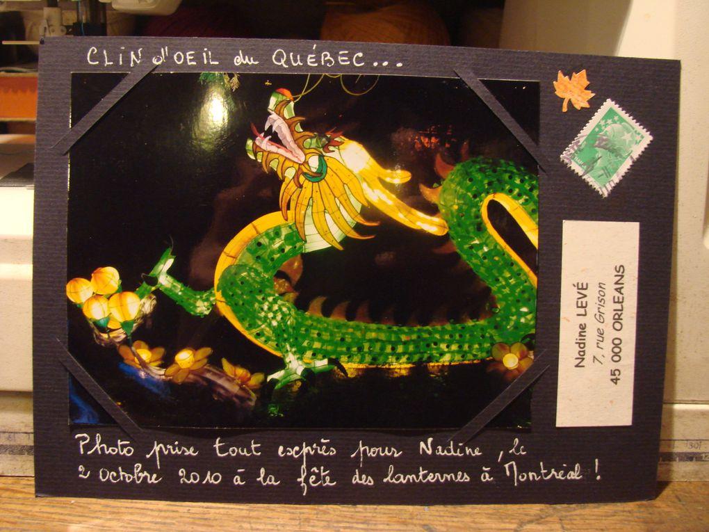 Mail-art reçus sur le thème des ailes et des êtres ailés.