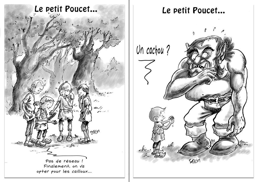 Quelques facéties au débotté sur le thème des contes de Perrault...