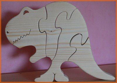 Album - puzzle animaux bois