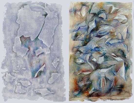 Martine Lucy ne donne pas l'impression de se prendre pour un peintre quand elle peint. Elle peint, avec rigueur, patience… Et un sens poétique qui est là, avec naturel, sans éprouver le besoin d'attirer l'attention sur lui...