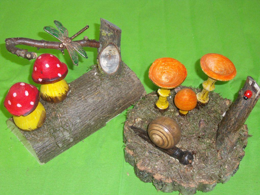 Album - tournage  bois et acrylique-objets déco en bois  -bagues
