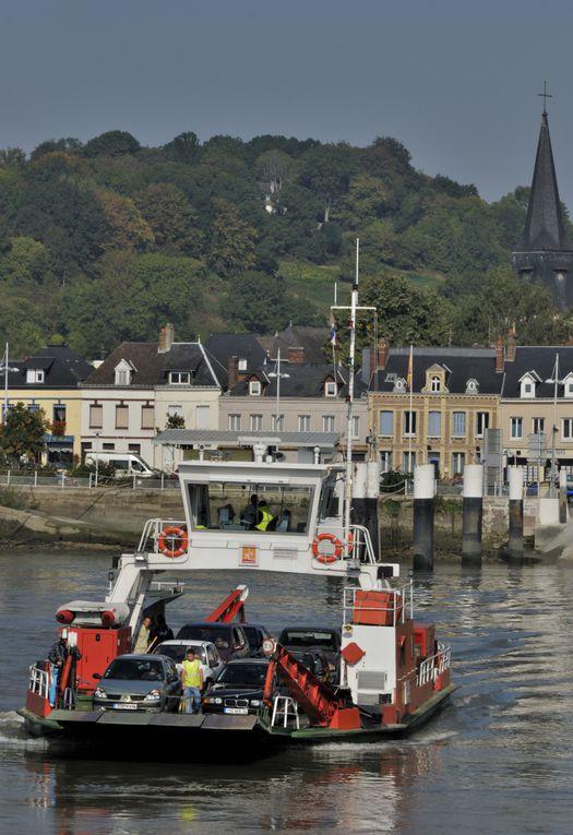 Les bacs reliant Berville sur Seine à Duclair, Yville sur Seine à Mesnil sous Jumièges et La Bouille à Sahurs