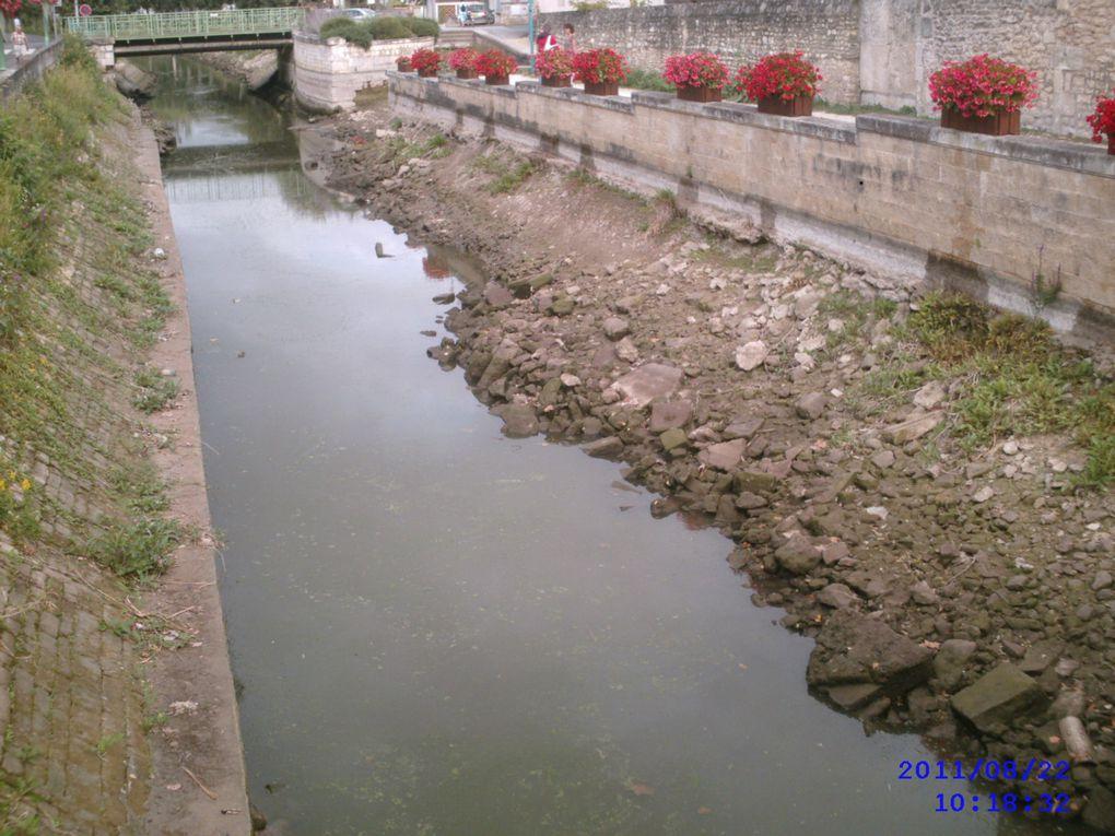 Photos de la Seudre le 22 Août 2011 prises au pont de la rue Carnot à Saujon, environ 300m avant le port de ribérou (passage de l'eau douce à l'eau salée.) Ce fleuve (oui c'est un fleuve) alimente en eau douce les claires des célébres huitres