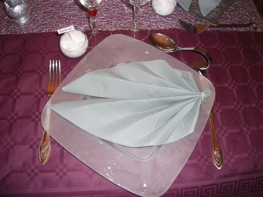 """table du 31 décembre 2010 ,faite avec ma soeur """"jumelle de coeur""""très bonne soirée"""
